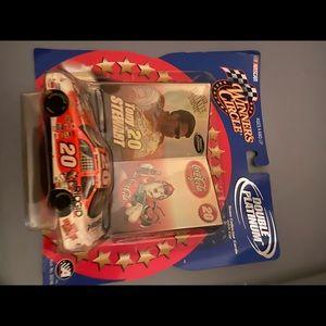 NIP NASCAR Tony Stewart Coca Cola car & cards
